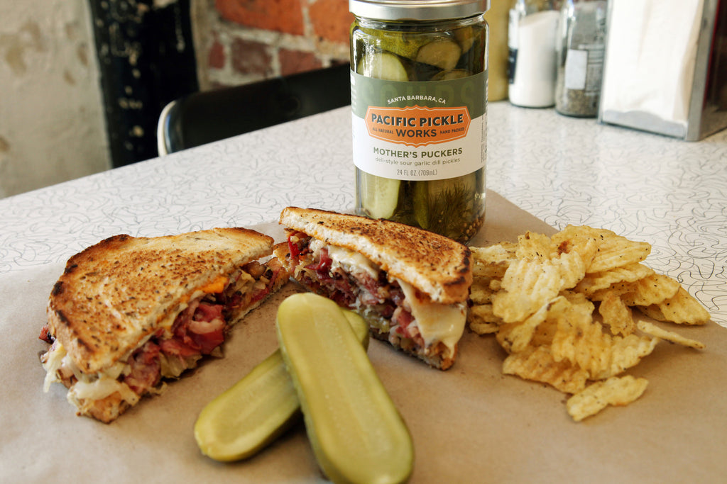 Pacific Pickle Works Mother's Puckers with a Pastrami Rueben
