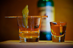 Pickleback featuring Pacific Pickle Works Spicy Pickle Brine and Cukarambas