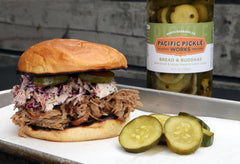Pacific Pickle Works Bread & Buddhas with Pulled Pork Sandwich