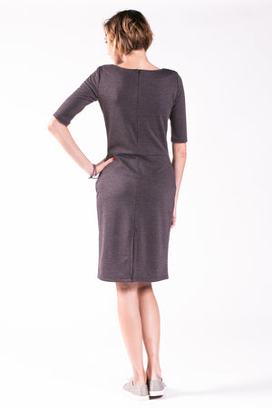 Lulu Ponte Dress with Front Pockets