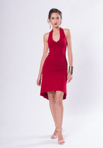 Celeste Open Back Sleeveless Tango Dress