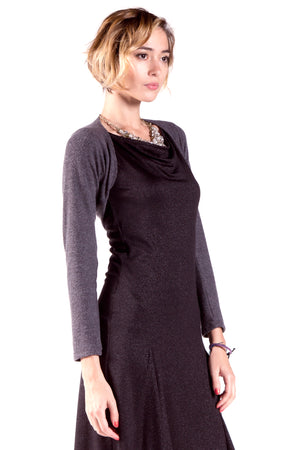 Long Sleeve Fitted Bolero Shrug