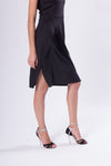 black tango dress with open back