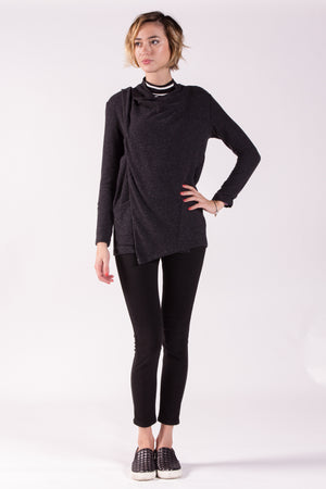 Versatile Long Sleeve Sweater Jersey Cardigan