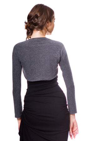 Bolero Sweater Shrug Long Sleeve Fitted Ultra Soft Lightweight