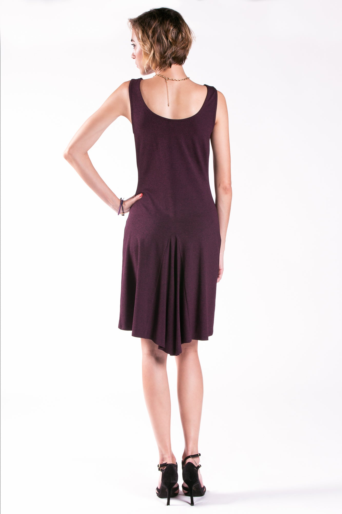 Ana Tango Dress Cowl Neck Sleeveless with Godet Back
