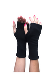 Cotton Fingerless Gloves UV Protective Lightweight Short Double Layer
