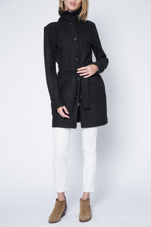 New! Sherry Botton Straight Collar Coat with Front Pockets