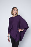 Poncho Sweater Wrap in Bamboo Rayon Cotton Modal Blend
