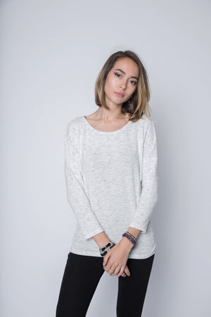Dolman Top in 3/4 Length Sleeve Sweater Jersey
