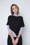 One size black shoulder cover up sweater.