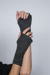 Double Layer Ultra Soft One Color Fingerless Gloves