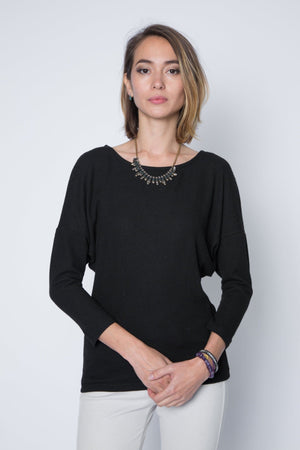 New! Dolman Sweater Top in Lightweight Cotton Modal Jersey