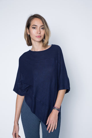 one size dark grey poncho sweater