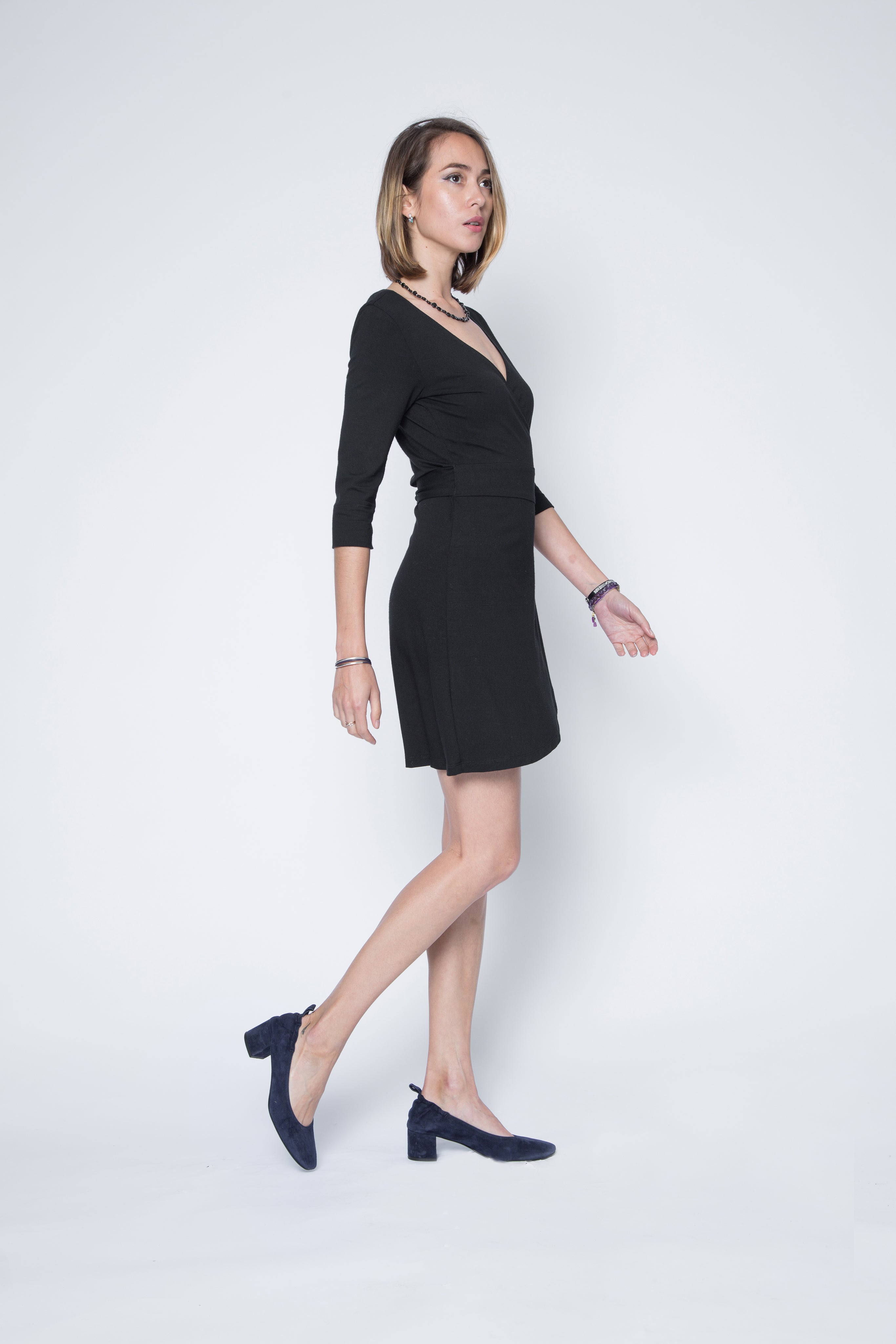 New! Signature Amanda Ballet Inspired Wrap Dress in Stretchable Jersey