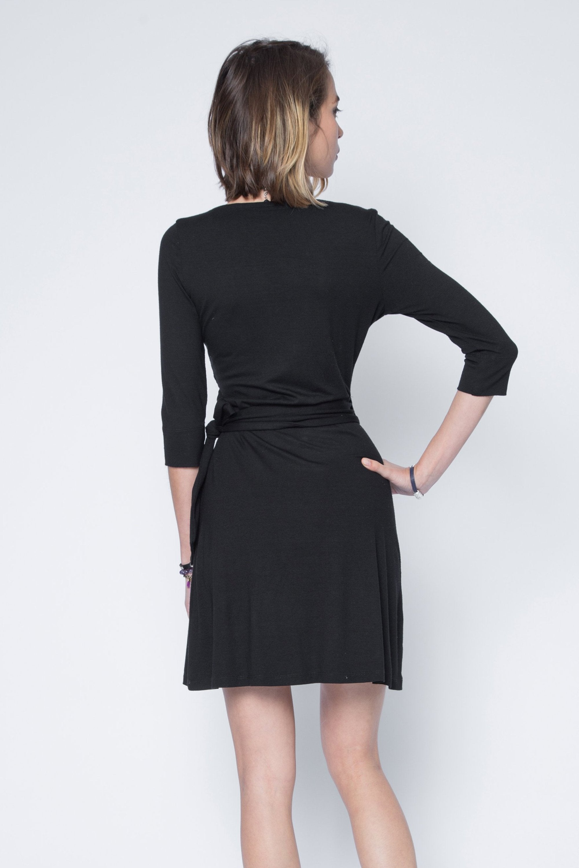 Signature Amanda Ballet Inspired Wrap Dress in Stretchable Jersey