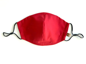 Cotton Face Mask with Filter Pocket in Solid Color