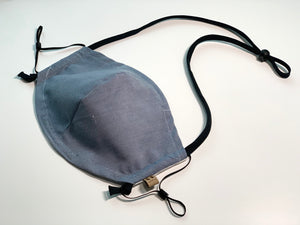 reusable face mask with filter pocket cotton for men