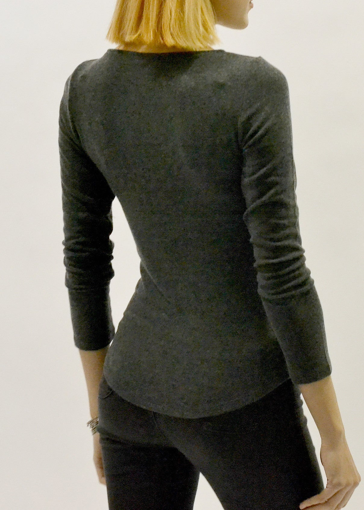 Long Sleeve Soft Cashmere Feel Sweater Top