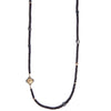 Black Spinel Multi Station Necklace
