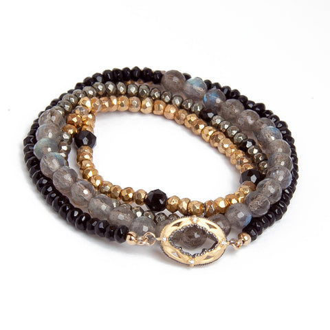 Multi Layered Stone Bracelet