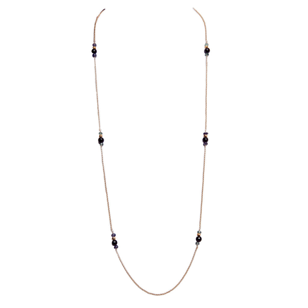 Iolite Quartz Necklace
