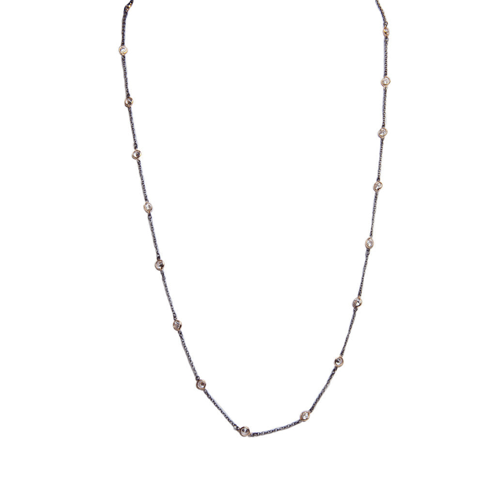 Delicate CZ Chain Necklace