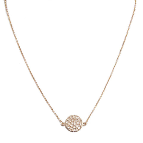 Lacy Circle Necklace