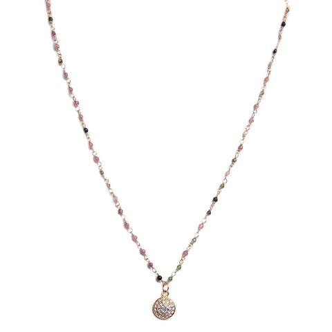 Pave Crystal Tourmaline Necklace
