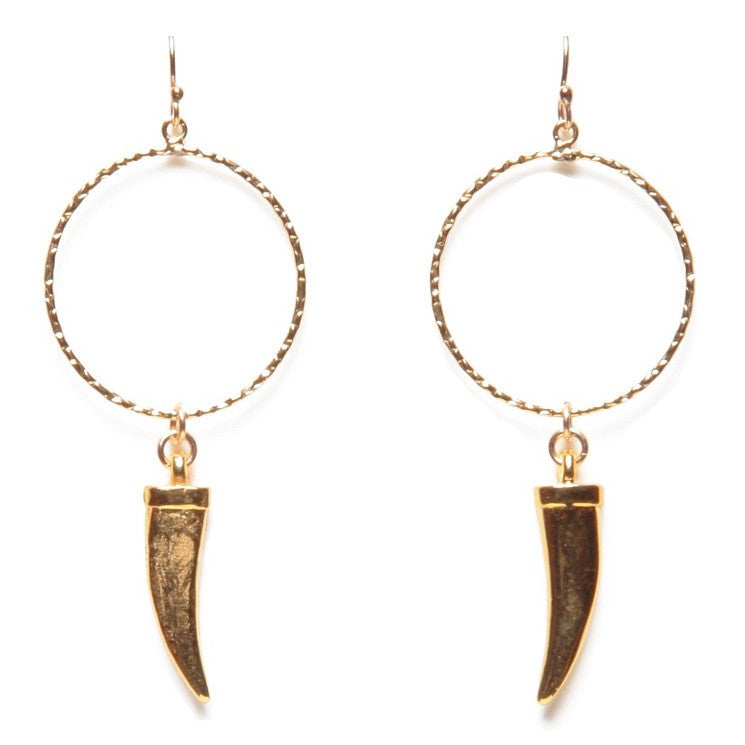 Gold Tusk Earrings