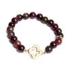 Red Jade Gold Clover Bracelet