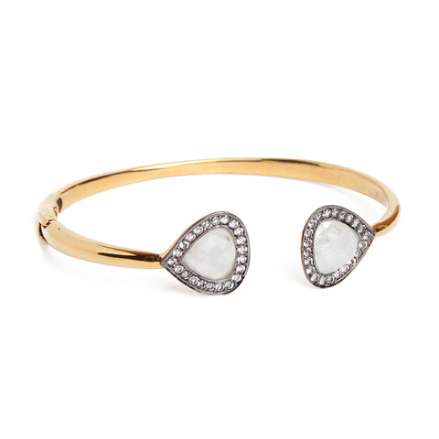 Double Moonstone CZ Bracelet