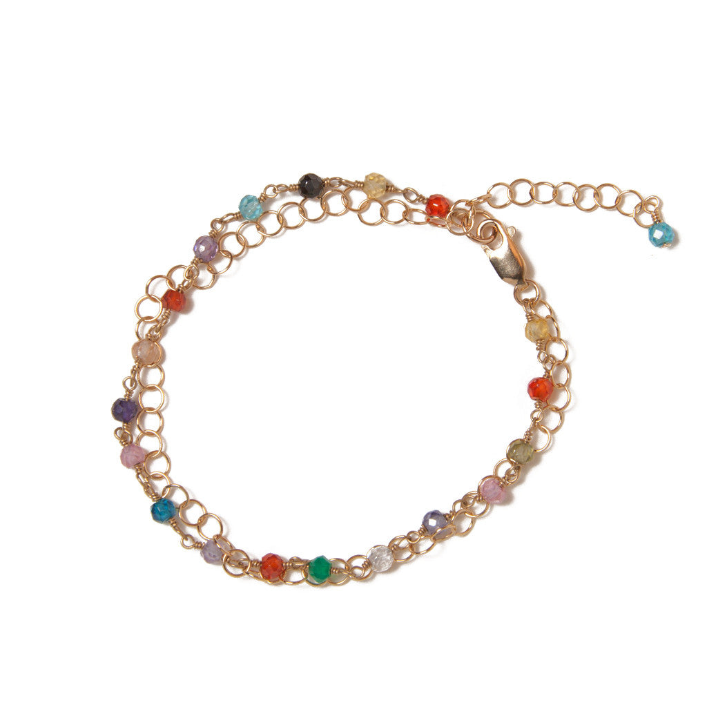Colorful CZ Chain Bracelet