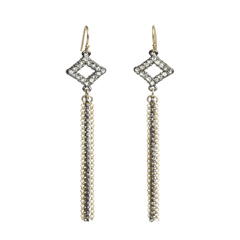 Crystal Multi Chain Earrings