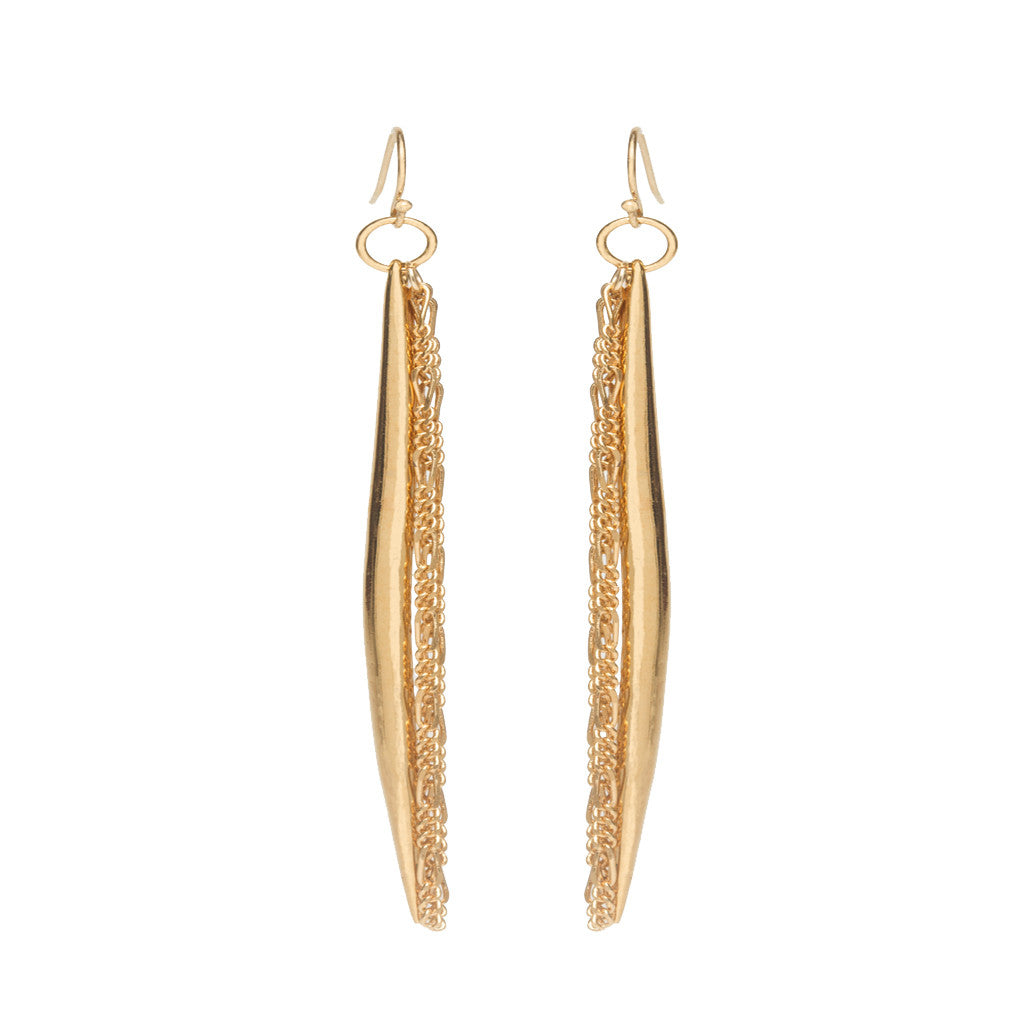 Gold Spike Chain Earrings