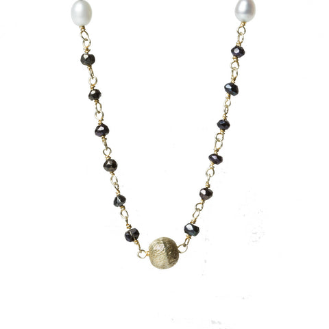 Blue Spinel Pearl Necklace