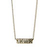 Hammered Gold Bar Necklace