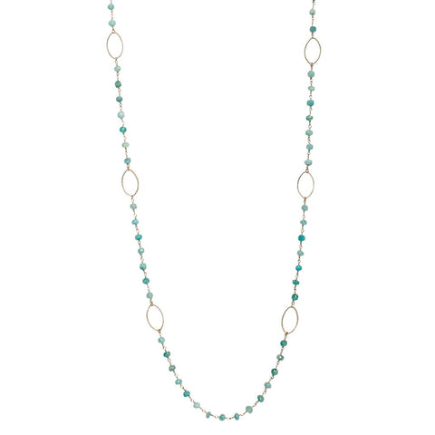 Turquoise Gold Station Necklace
