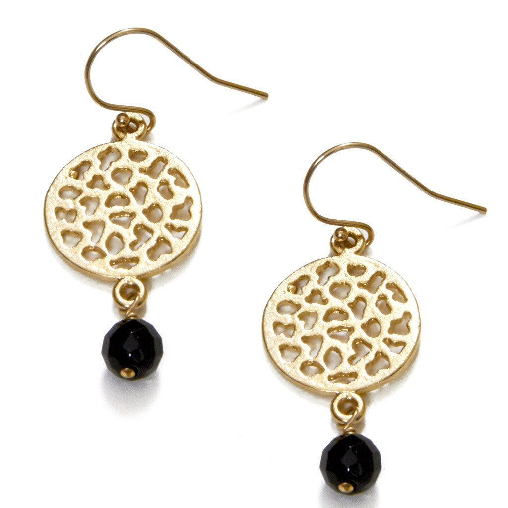 Lacy Onyx Earrings