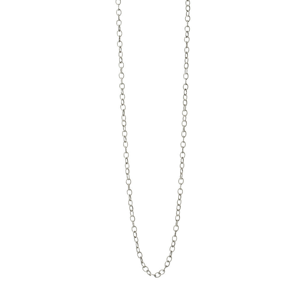 Oxidized Silver Textured Chain