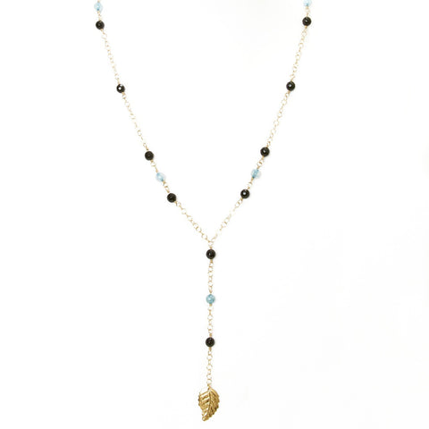 Onyx Fire Agate Y Necklace