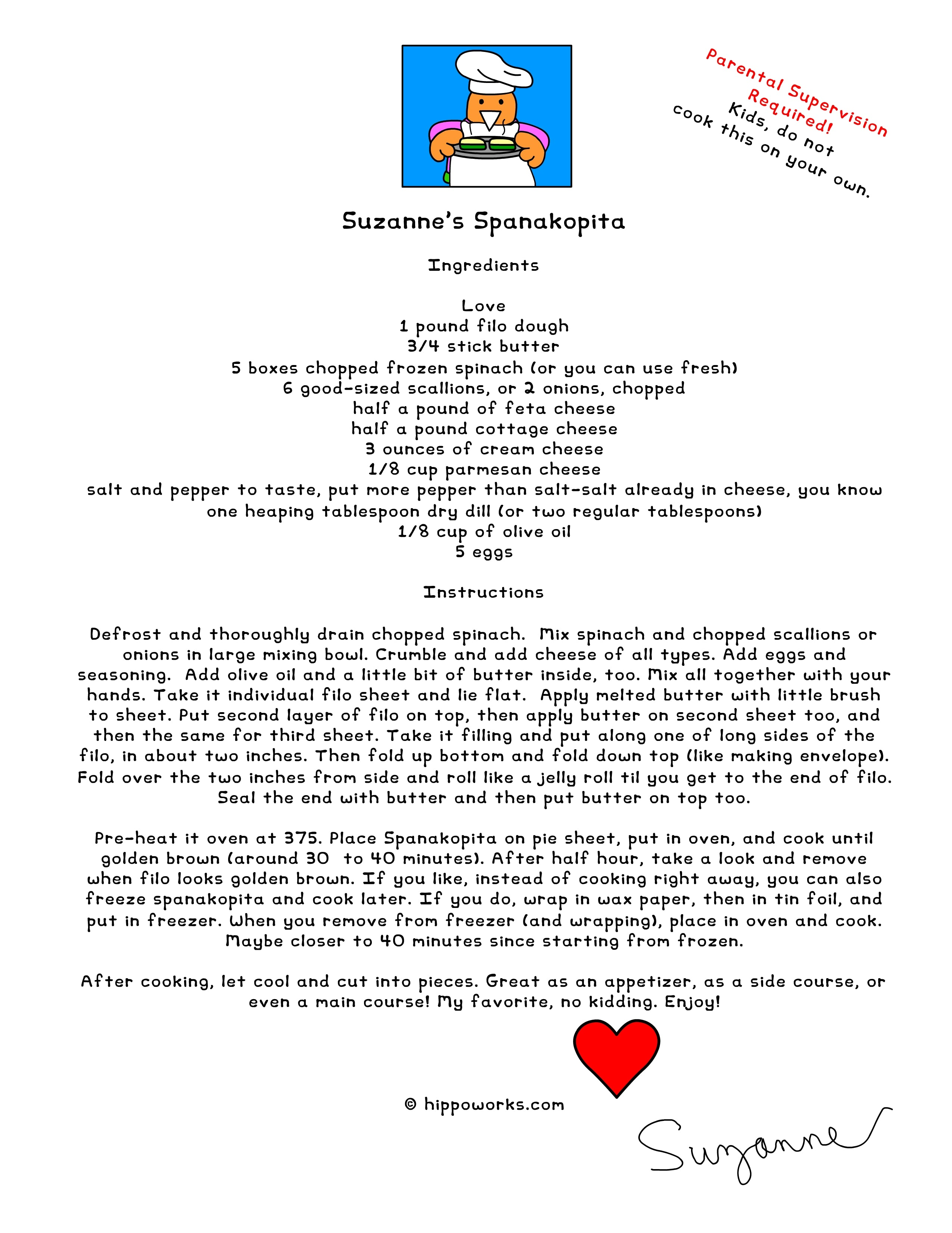 Spanakopita Recipe from Suzanne\'s Kitchen | Hippo Works, It\'s a ...