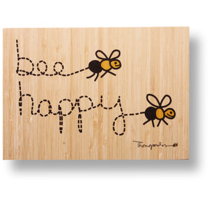 Bee happy bamboo print