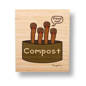 Compost bamboo print