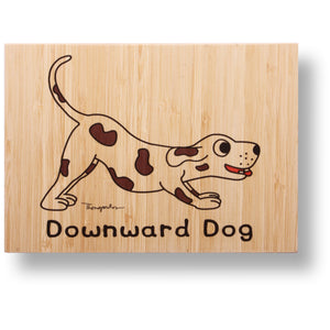 Downward dog bamboo print