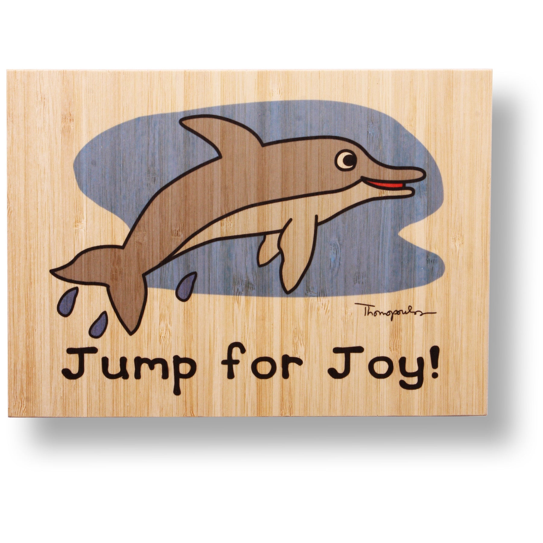 Jump for joy bamboo print