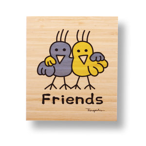 Friends bamboo print