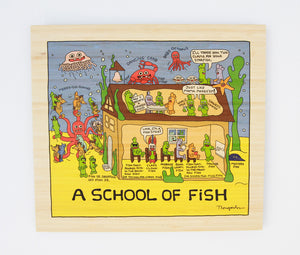 """A school of fish"" bamboo print"