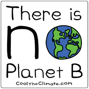 There's No Planet B Sticker - Hemp & Post Consumer Recycled Paper