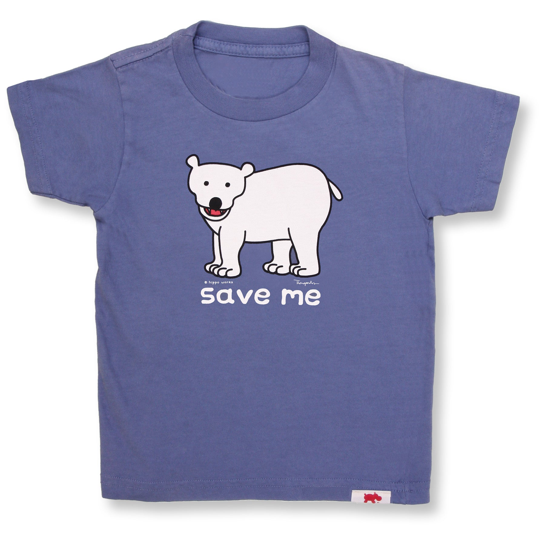 Save Me Polar Bear Organic Tee